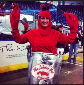 Cindy from Szabo's Seafood of Shelton made us smile!