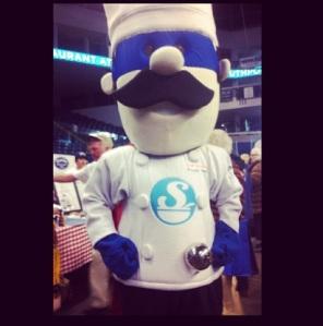 Chowdafest mascot: Chef Quahog! He's a S.O.U.P.er hero as CTfoodbank.org says!! (hehehe)
